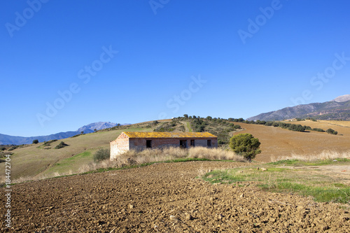 Spoed Foto op Canvas Natuur andalucian farm building