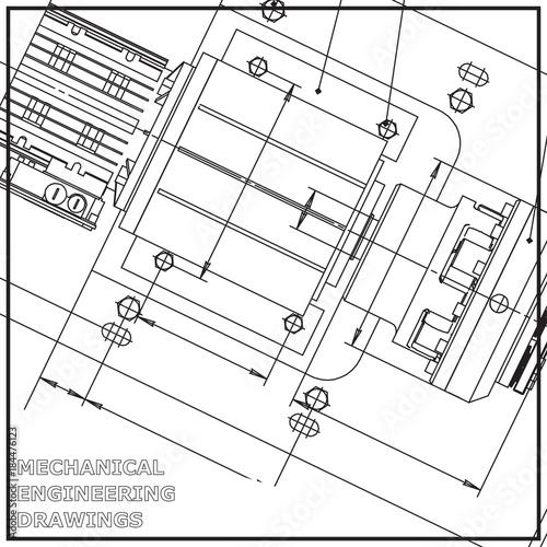 Mechanical Engineering Drawing White Background Engineering