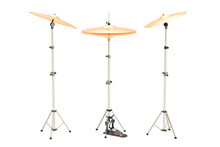Set Of Cymbals, 3D Rendering