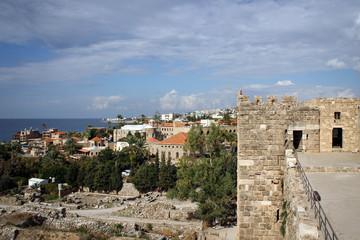 Fototapeta na wymiar View of City of Byblos from Crusader Castle, Lebanon