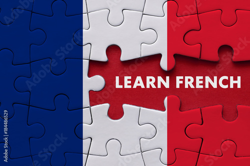 Learn French - Education Concept Fototapeta