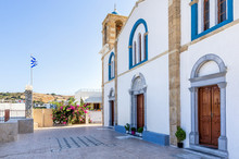 The Church In The Village Of Lipsi Island, Dodecanese, Greece