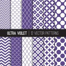 Ultra Violet Retro Geometric V...