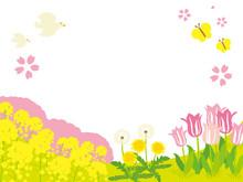 春イメージ 背景イラスト