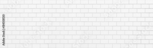 Foto White brick wall seamless background and texture