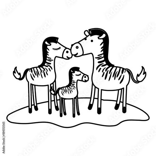rodzina-zeber-rodzice-i-dziecko-rysunkowe-zwierzeta