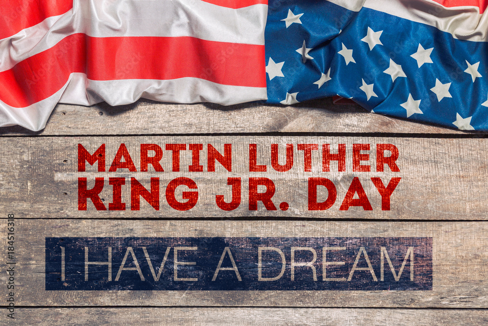 Fototapeta Happy martin luther king day background
