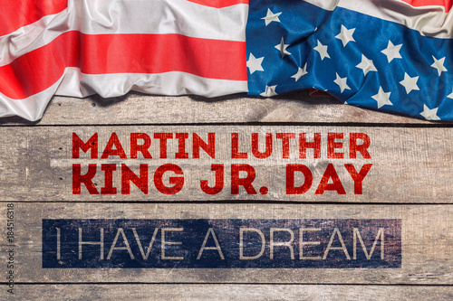 Happy martin luther king day background Canvas Print