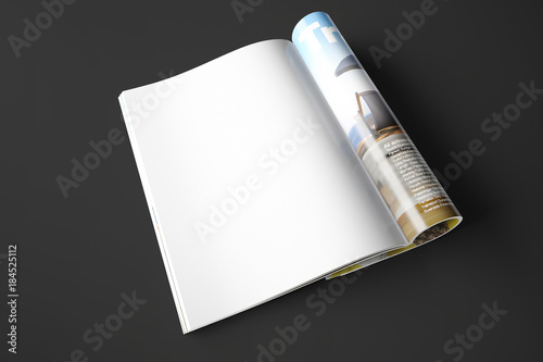 Valokuva Opened page of magazine