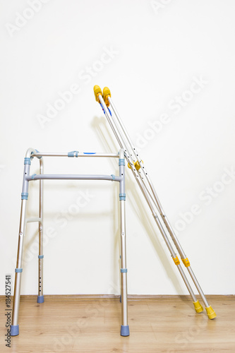 Photo  crutch  and walker composition photography