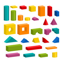 Bright Colorful Wooden Blocks ...