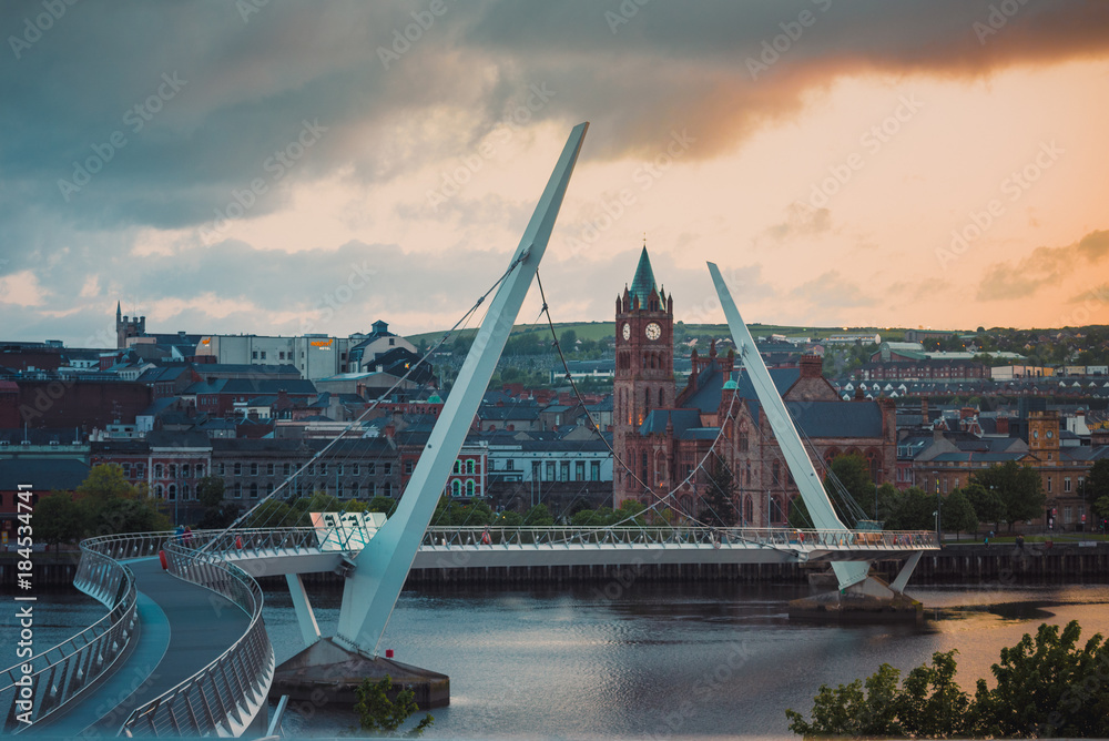 peace bridge derry londonderry northern ireland