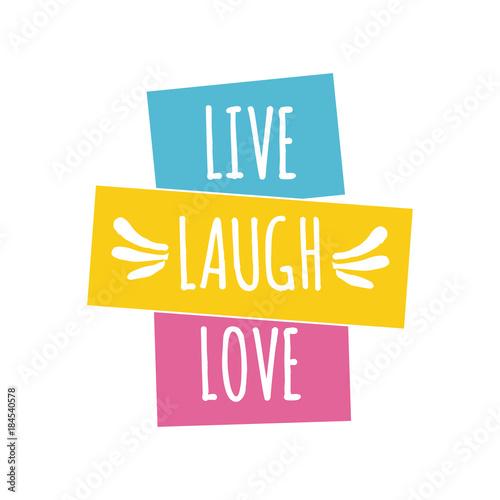 Live laugh love quote lettering. Wallpaper Mural