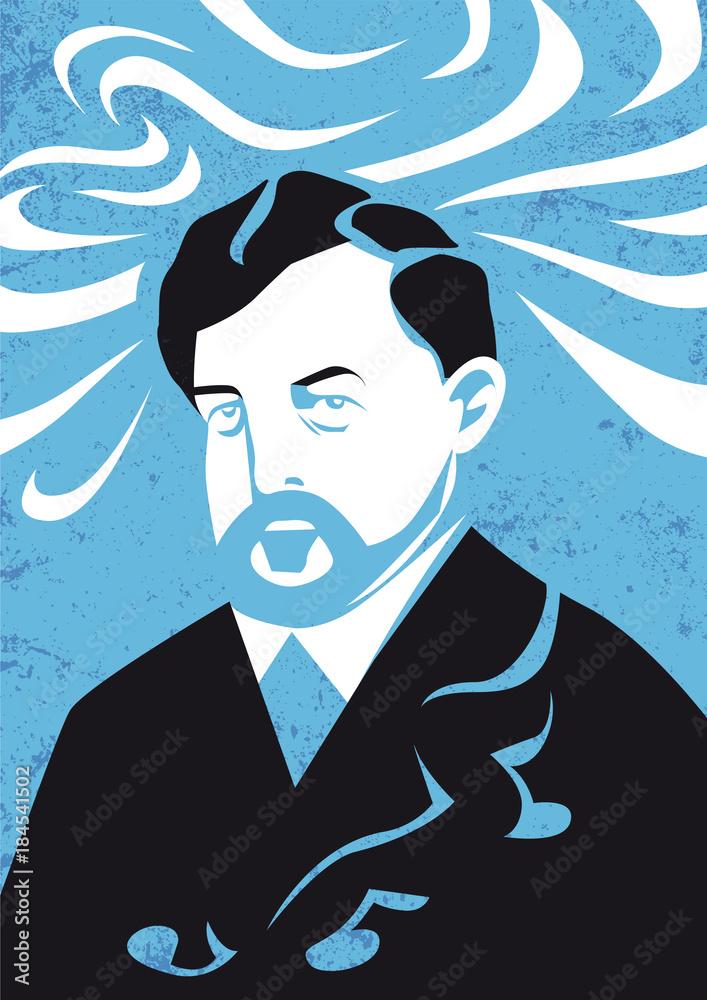 Fototapeta Claude Debussy vector illustration