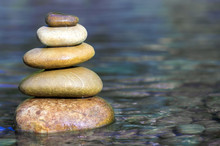Stack Of Stones Balancing On T...