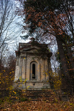A Weathered Spooky Crypt In Th...