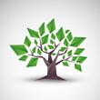 drzewo origami wektor