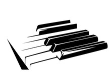 Piano Keyboard Simple Black And White Vector Design