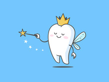 Tooth Fairy Vector Cartoon Ill...