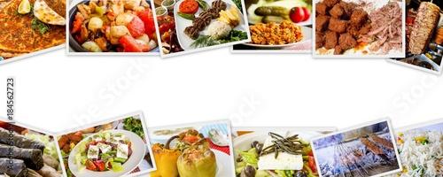 Türk Yemeklerinden Hazırlanan Kolaj
