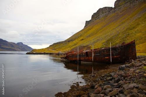 Fotografie, Tablou  Epave de Djupavik - Islande