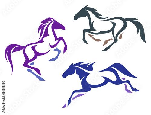 Fototapeta Stylized Horses