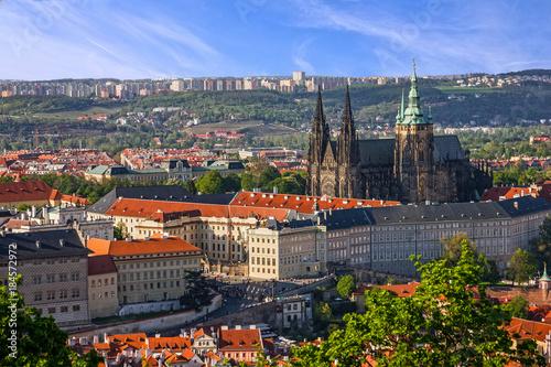 Staande foto Praag Prague Castle and Saint Vitus Cathedral, Czech Republic. Panoramic view