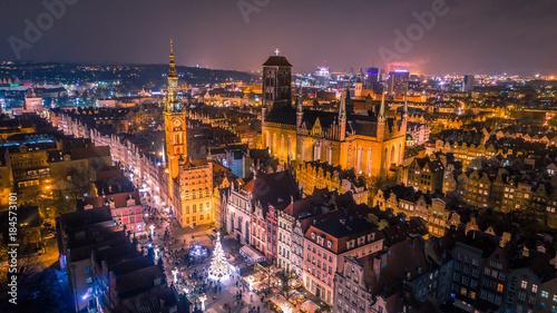 Fototapeta Świąteczna Gdańska Starówka obraz
