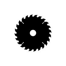 Circular Saw Blade Icon. Black...