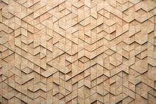 Wood Triangular Abstract Polyg...