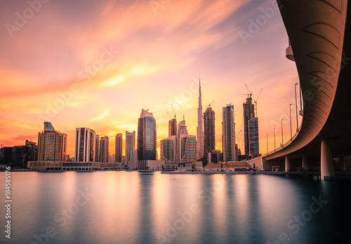 Poster Middle East Dubai downtown skyline