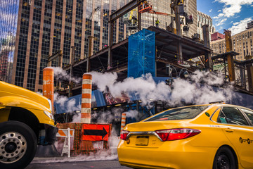 taxi New York chantier