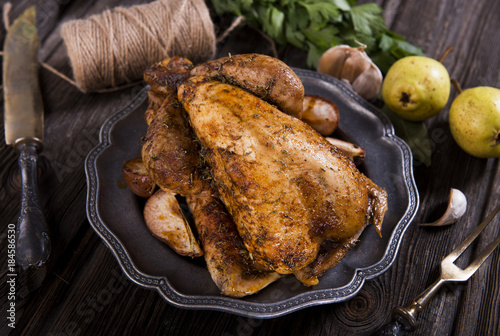 Foto Roasted guinea fowl