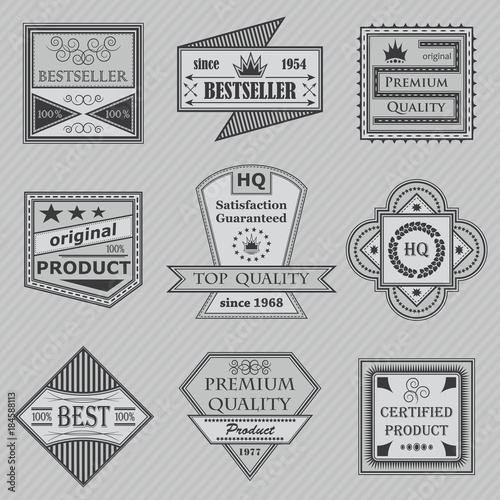 Fototapety, obrazy: Premium quality labels set. Retro Vintage Design