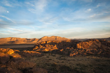 Sunset Landscape View At Hueco Tanks State Park In El Paso, Texas.