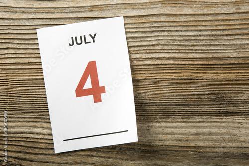 Fotografía  Calendario 4 luglio