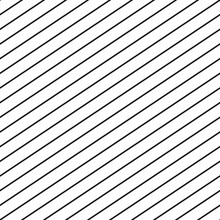 Vector Seamless Stripe Pattern. Thin Diagonal Parallel Lines Repeat Texture. Simple Striped Geometric Template. Abstract Black And White Monochrome Background. Modern Design For Textile, Fabric, Print