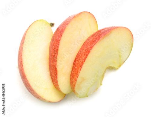 Slice apple on white background Fototapet