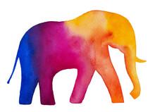 Elephant Watercolor Silhouette...
