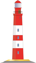 Lighthouse Vector Graphic Isol...
