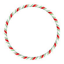 Candy Cane Circle Frame For Ch...