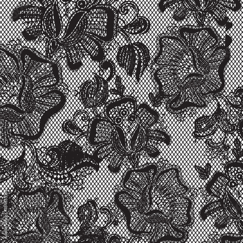 Poster Artificiel lace pattern