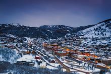 Winter In Park City, Utah, USA.