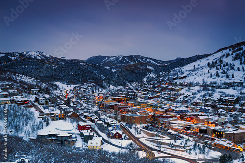 Winter in Park City, Utah, USA.