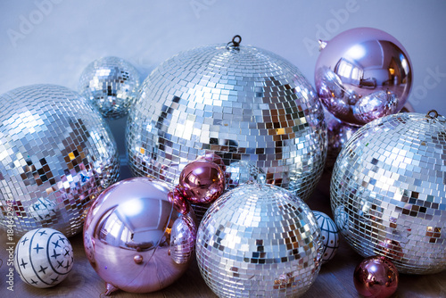 Fototapeta Disco balls in a party