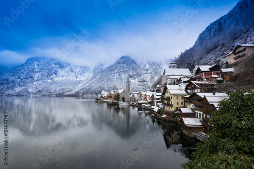 Fotografie, Obraz  Lagoon view in Hallstatt hesitage city 4000 years in Austria