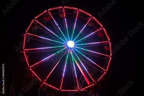 Deurstickers Antwerpen Ferris Wheel in Motion at Night