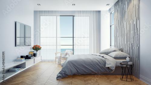Modern Bedroom Interior Design Concept Summer Relaxing 3d