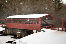 Covered Bridge After A Snowsto...