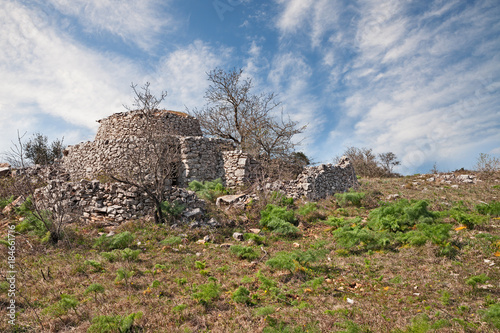 Fotografie, Obraz  Altamura, Bari, Puglia, Italy: old trullo, the traditional Apulian stone house